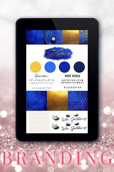 Portfolio Referenz Branding Isla Golding Autor Marke