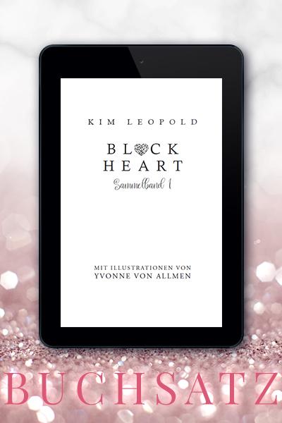 Portfolio Referenz Buchsatz Black Heart Sammelband - Kim Leopold